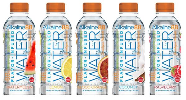 flavoured alkaline waters
