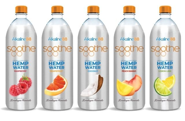 The Alkaline Water Company's Hemp Water Line Expected to Further Boost Record Sales