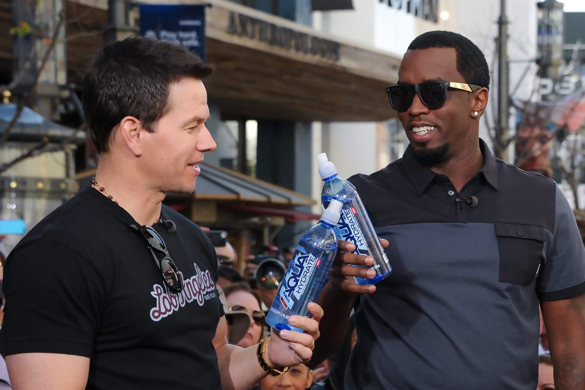 """Alkaline Water Gets  Mark Wahlberg and """"Diddy"""" to Back its CBD Products"""