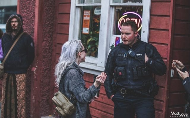 officers raid Victoria Cannabis Buyer's Club, patient talks to officer