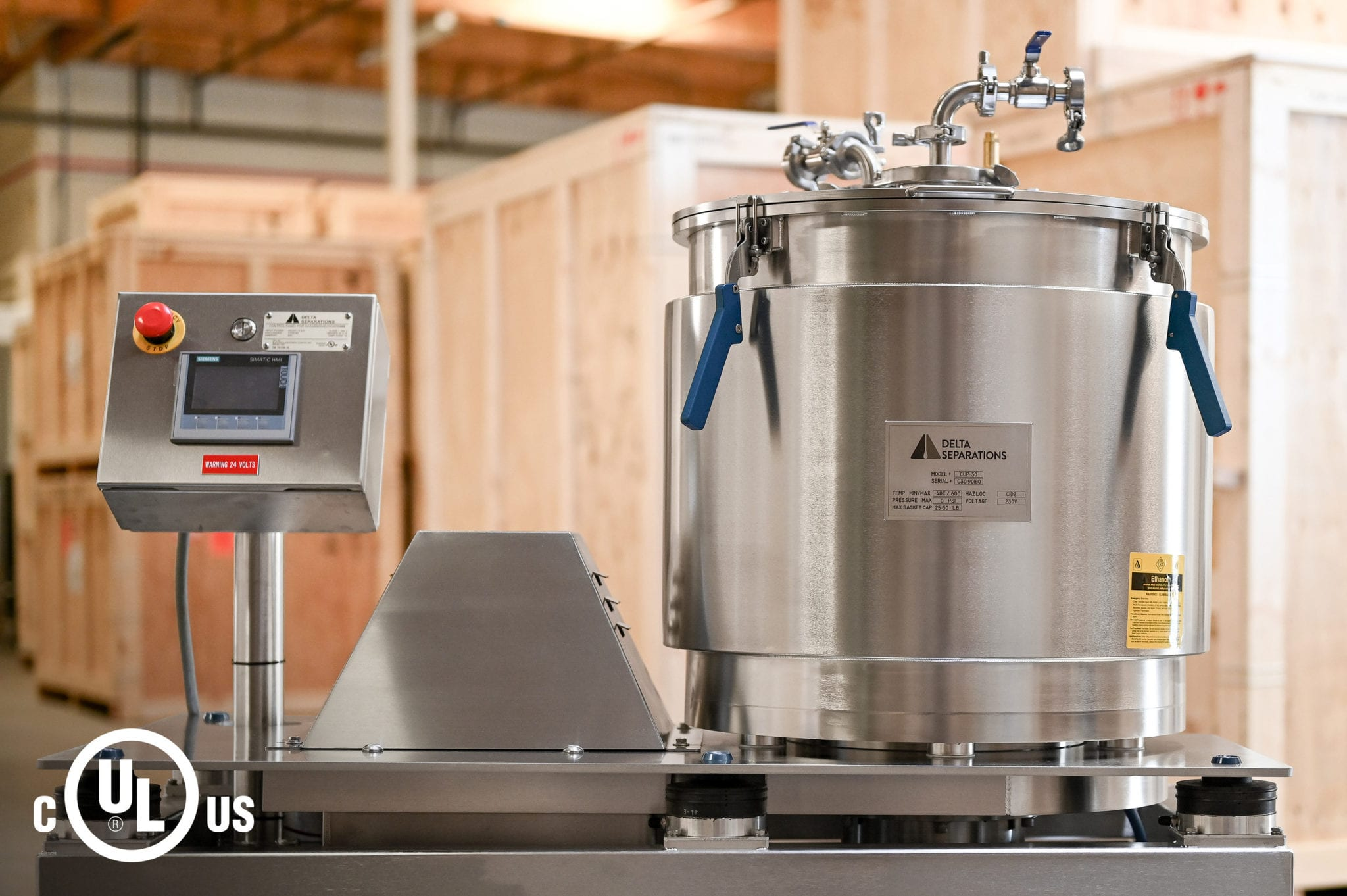 cannabis extraction safety standards - Delta Separations UL certified extractor
