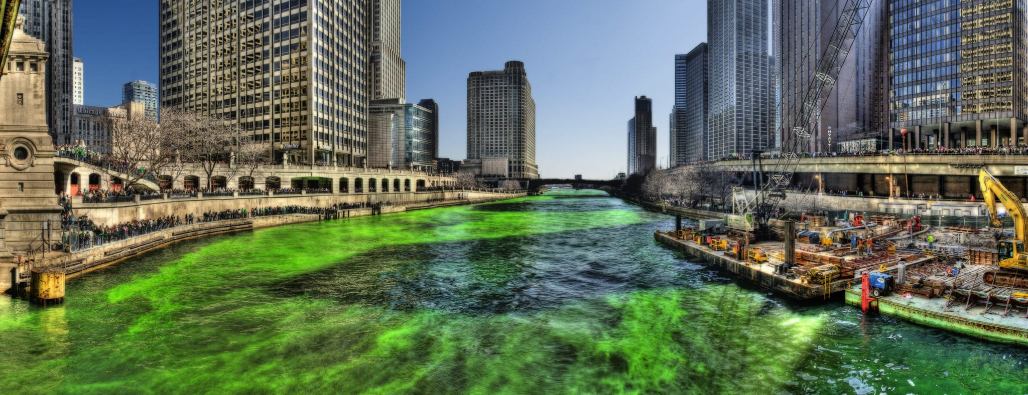 Illinois becomes 11th state to legalize cannabis, grants 11,000 pardons - Chicago river green for St. Patrick's Day