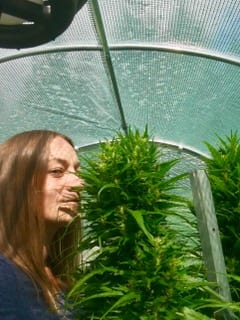 Stephanie deJager and her cannabis plant