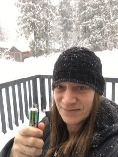 Stephanie deJager lives, vapes and drives in Revelstoke, B.C.
