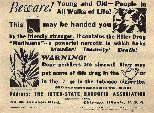 racist cannabis propaganda - Blk Mkt GTEC racist slogan