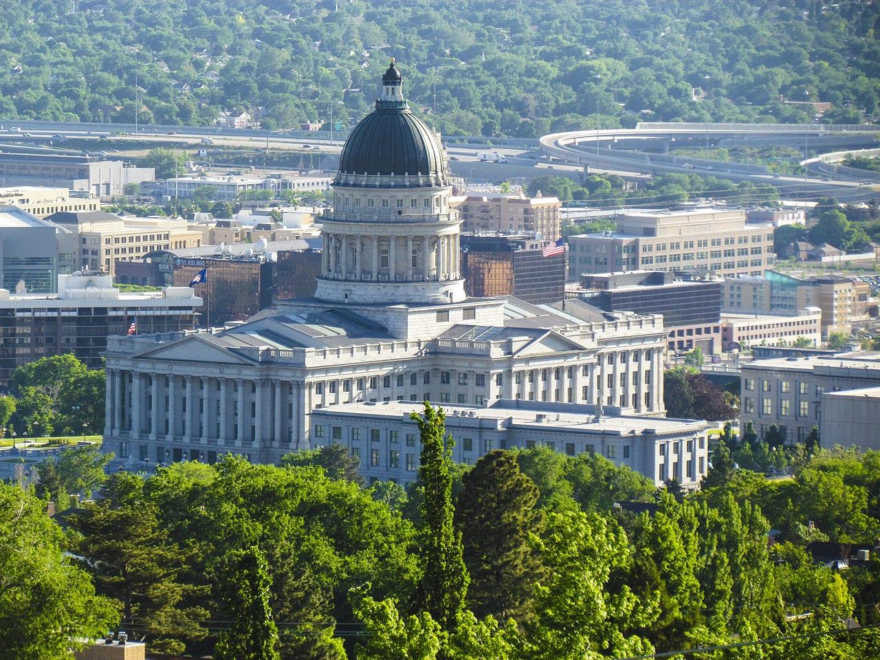 Utah's 1st medical cannabis dispensary set to open - AP - Utah state capitol building