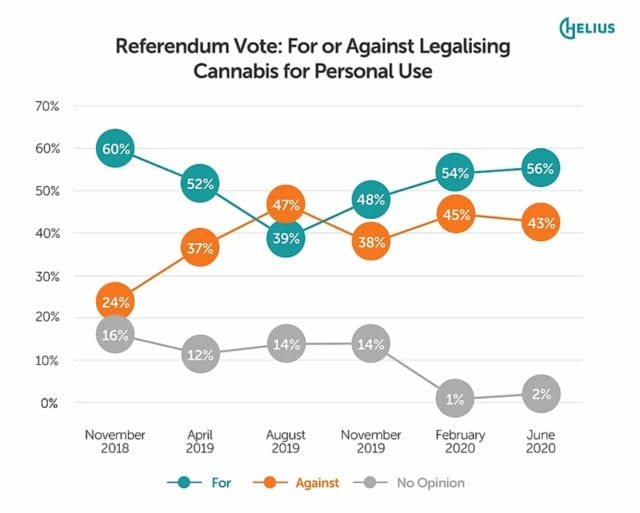 Majority of Kiwis will vote in favour of cannabis legalization, new poll finds