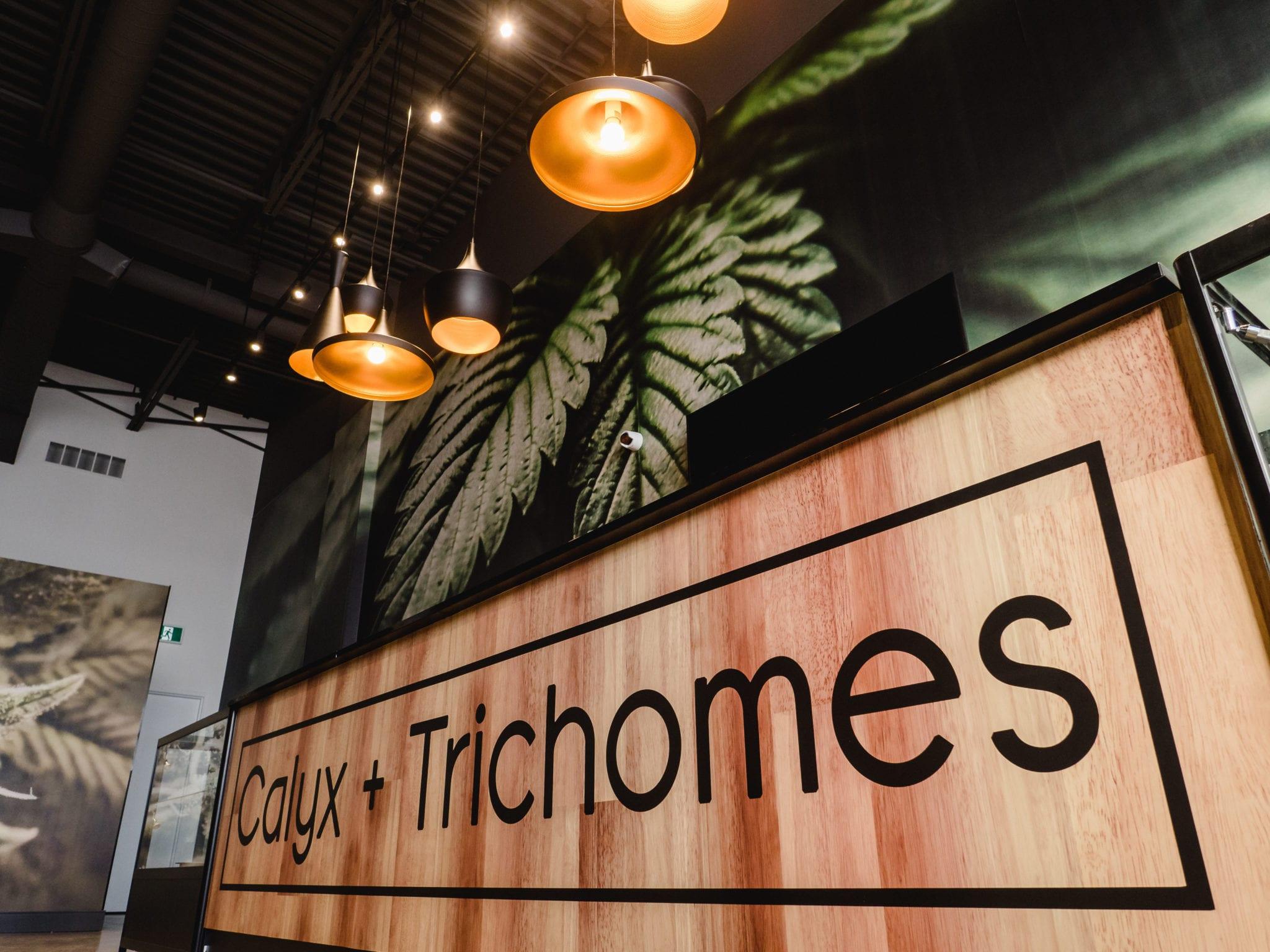 logo writing at Calyx + Trichomes