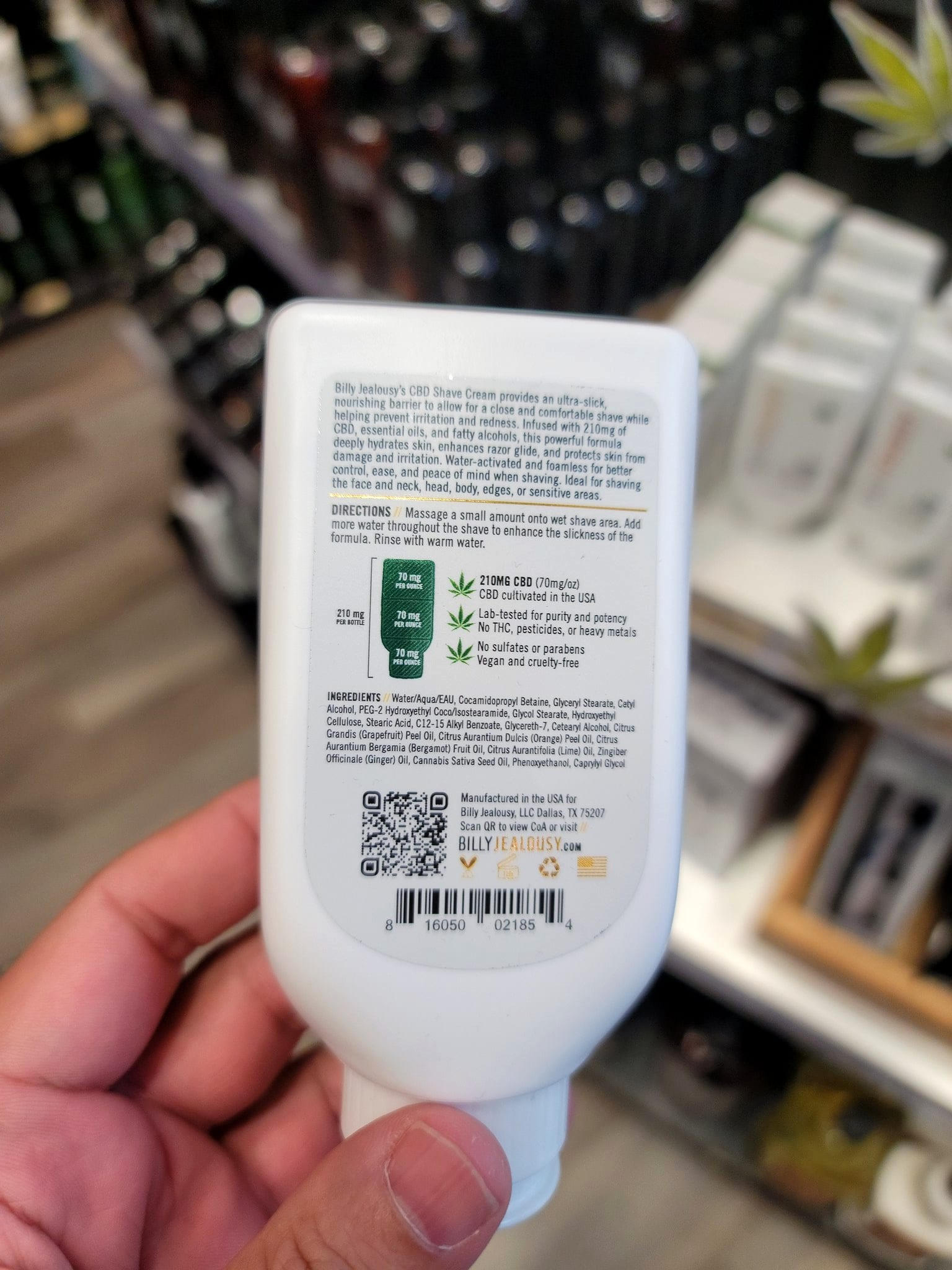 Illict CBD shampoo in plain view — what's it to you? Tommy Gunsbottle