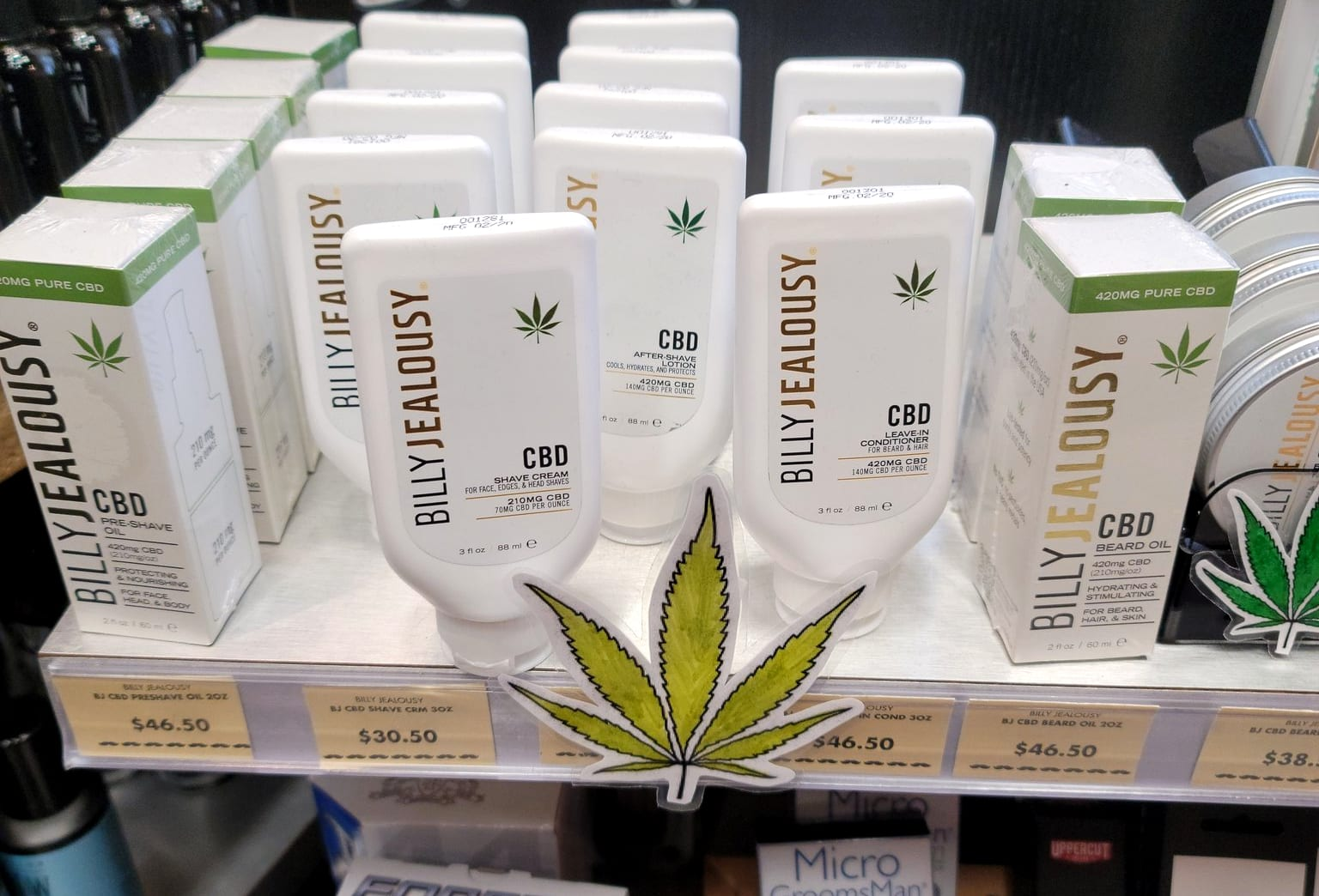 Illict CBD shampoo in plain view - what's it to you?