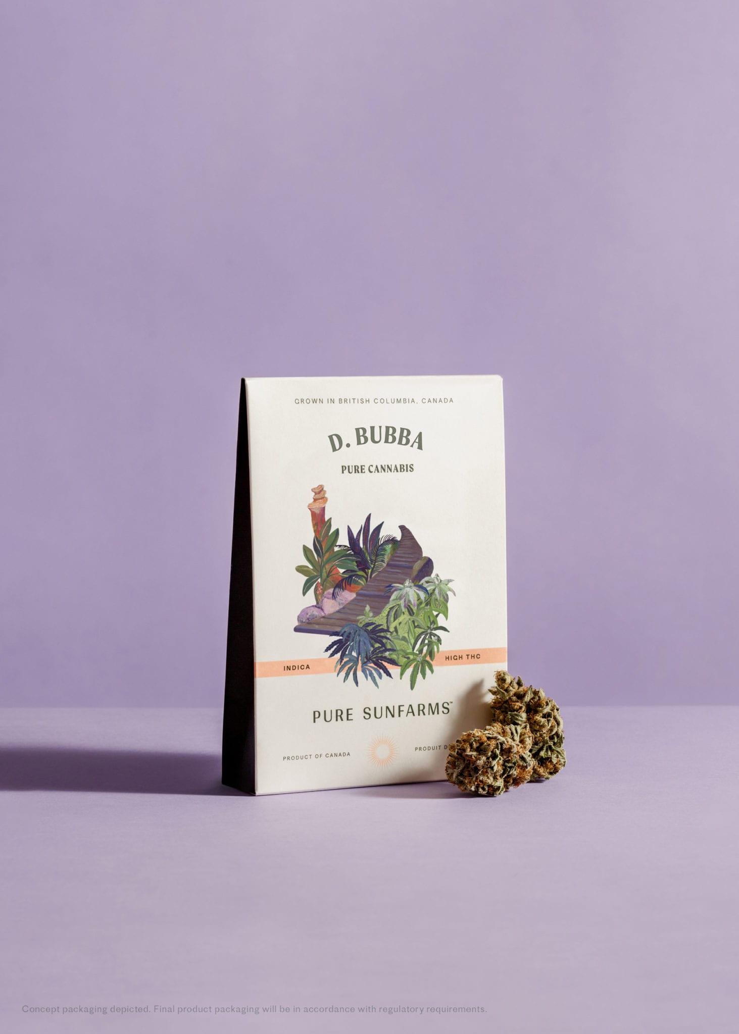 Pure Sunfarms D. Bubba packaging