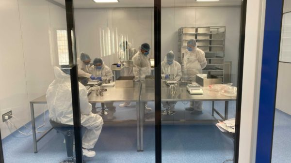 Materia secures EU GMP licence for largest certified facility in Malta - workers in facility