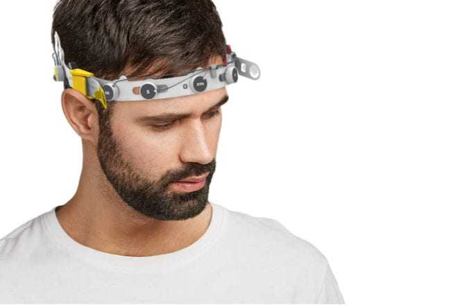 This headset measures brainwaves to tell if you're high or not