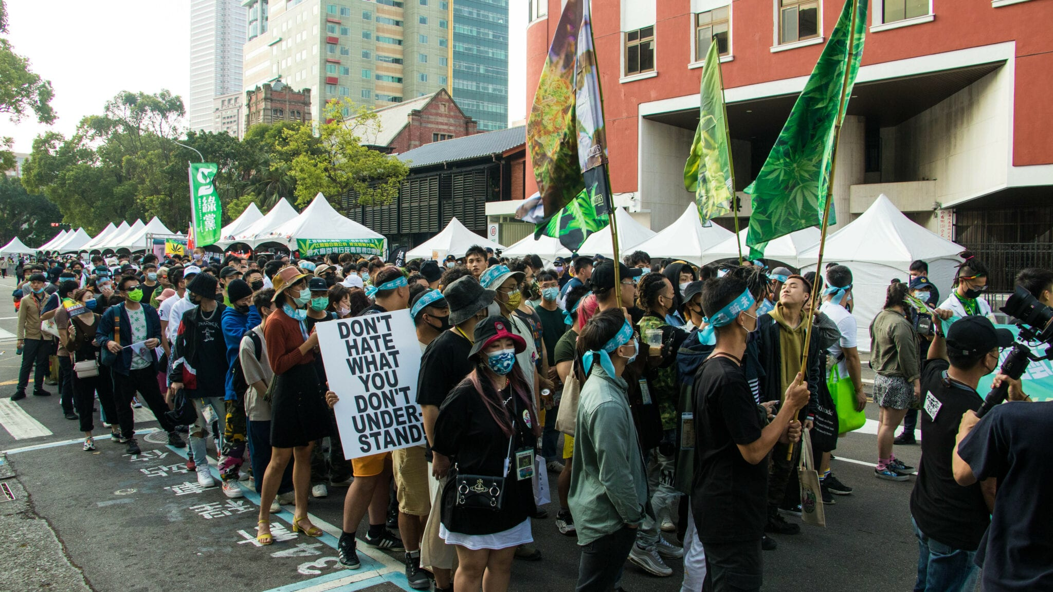 Activists and experts push for legal cannabis in Taiwan - crowd
