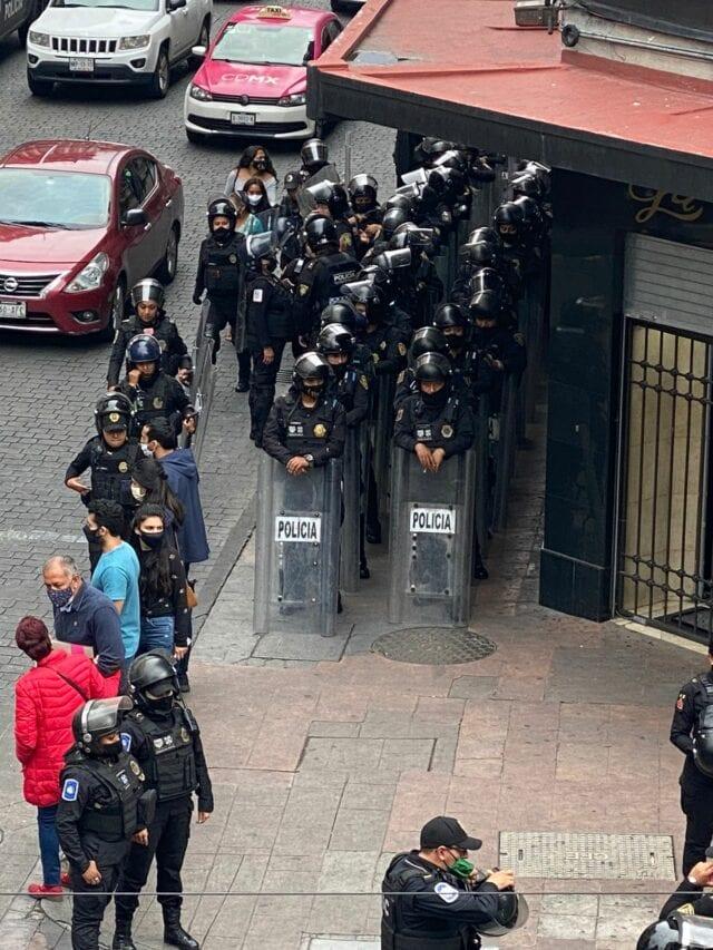 Heavy police presence blocks cannabis activist demonstration