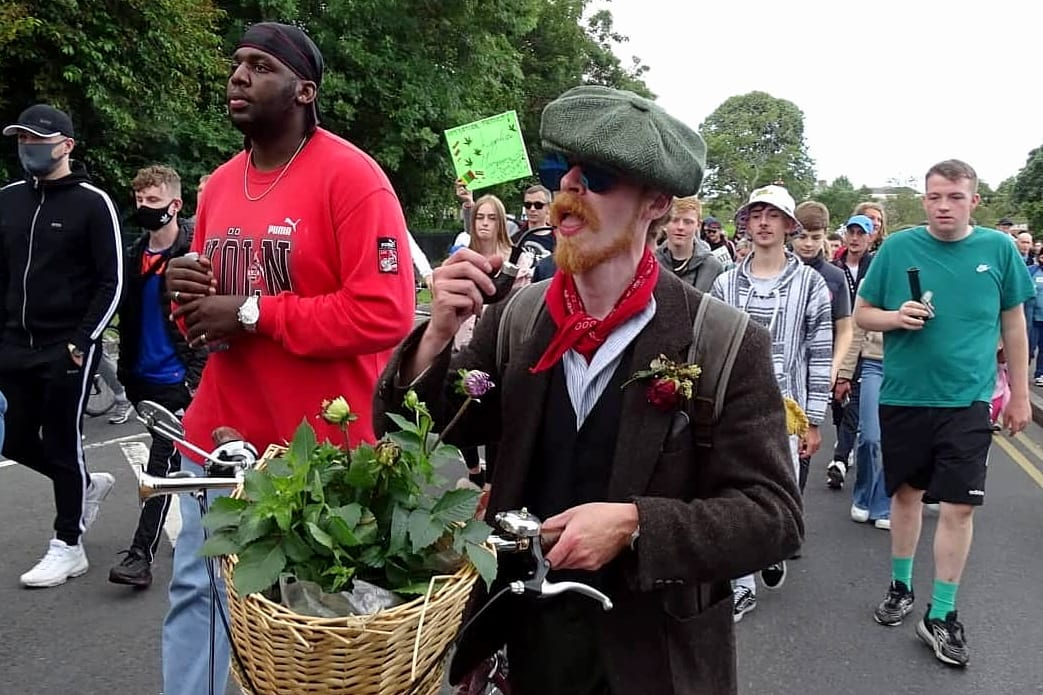 Over 1,000 people march for cannabis reform in Ireland - corn cob (1)