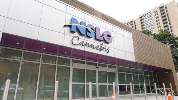 Exterior of Nova Scotia provincial cannabis store