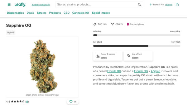Cannabis media giant Leafly is going public - sapphire og