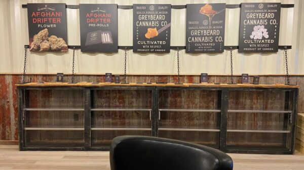 Inside Canada's first farmgate store where signs describing cultivars hang on the walls