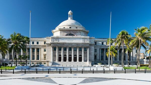 Outside image of Puerto Rico's Capitol building on a clear day