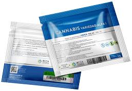 Package of ALPHA cultivar in Uruguay