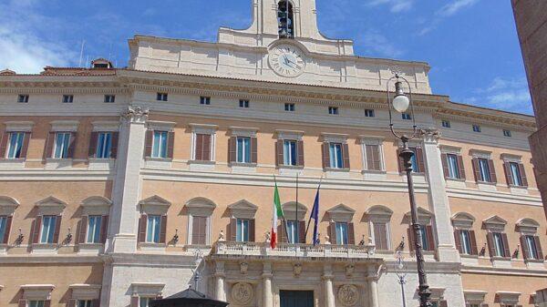 Outside image of Italy's Palazzo Montecitorio
